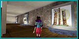 3D gallery: One of several 3D virtual chat rooms created for the event with original juried art from both countries.